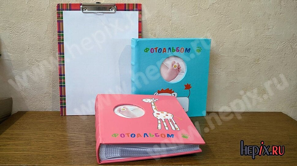 Детские фотоальбомы: розовый и голубой для мальчиков и девочек