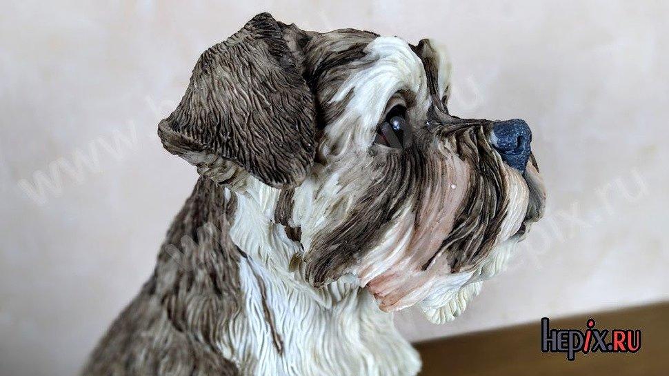 Статуэтка собаки Миттельшнауцер